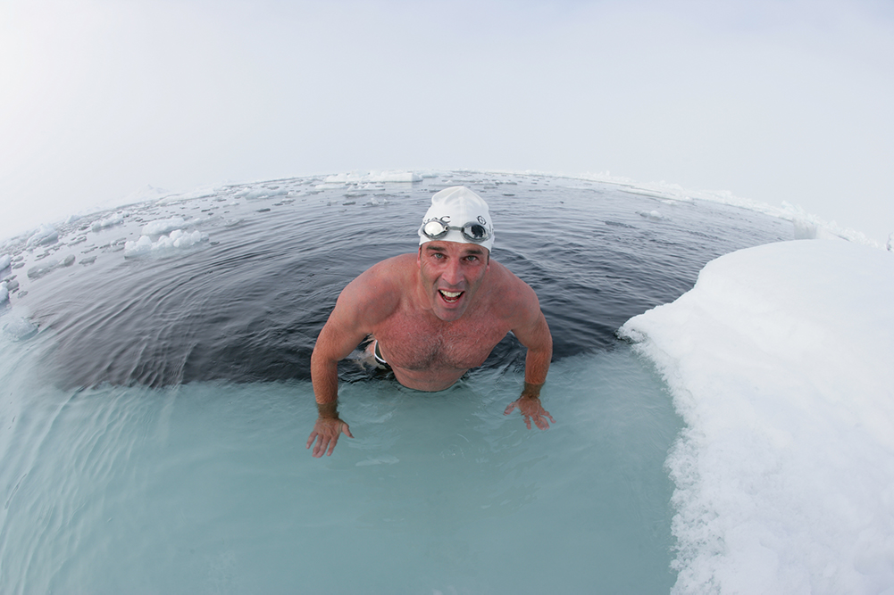 You can probably learn more from North Pole swimmer Lewis Pugh than you realise