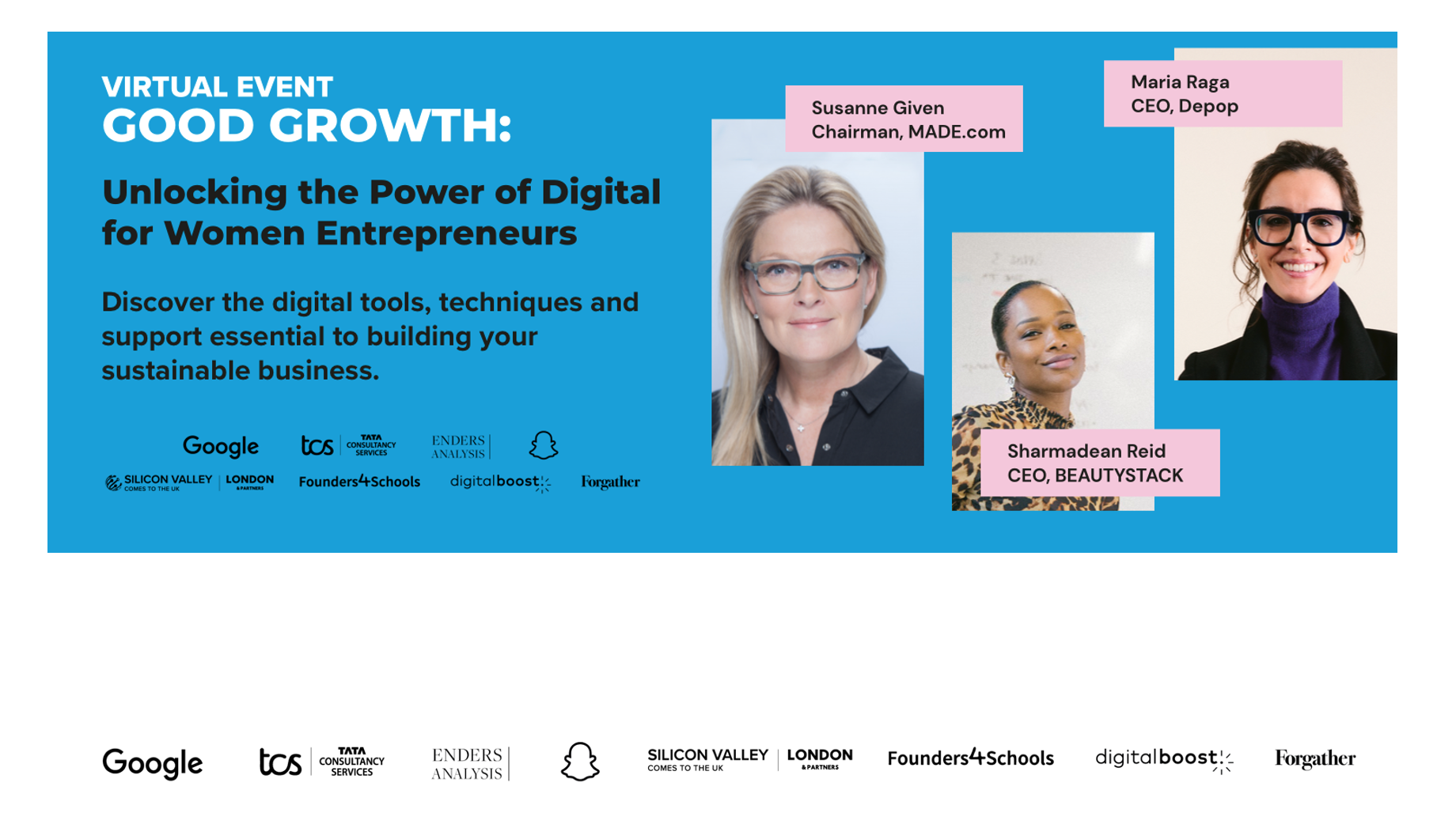 Good Growth: Unlocking the power of digital for women entrepreneurs –why events, digital or otherwise, are so important